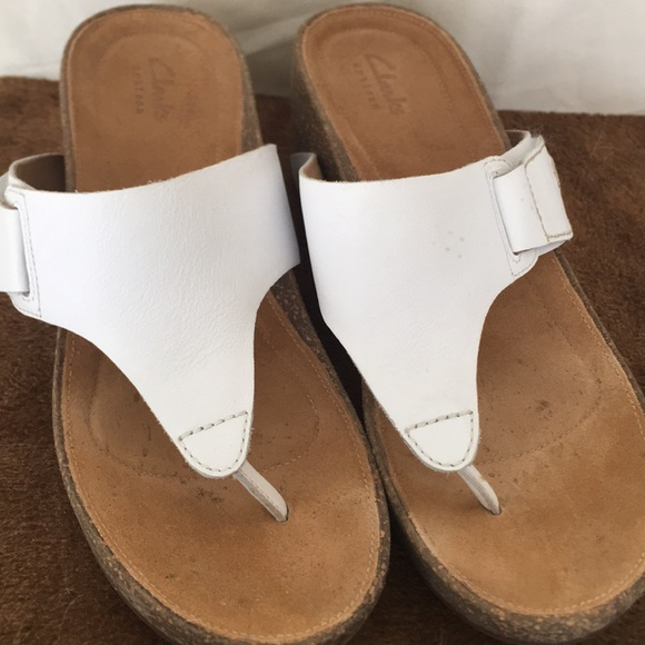 9687192b6bd6 Clarks Shoes - Clarks Temira West Platform Wedge Sandals Sz 10